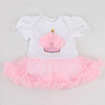 Roupa Para Boneca Bebê Reborn Body Cupcake