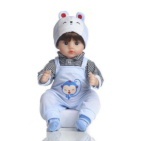 Boneca Bebê Reborn Laura Baby Dream Nuno