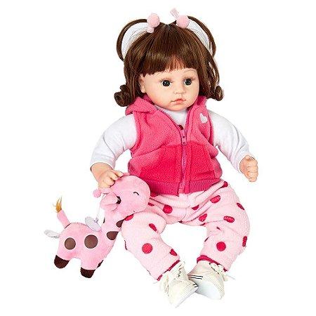 Boneca Bebê Reborn Laura Baby Dream Sophie com mecanismo