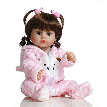 Boneca Bebê Reborn Laura Baby Lara 100% Vinil