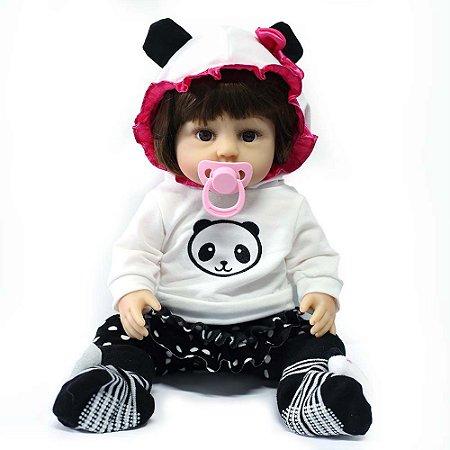 Boneca Bebê Reborn Laura Baby Maria Helena 100% Vinil