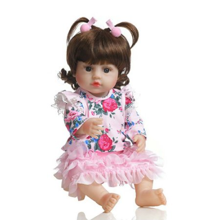 Boneca Bebê Reborn Laura Baby Pérola 100% Vinil