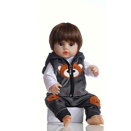 Boneca Bebê Reborn Laura Baby Ygor 100% Vinil