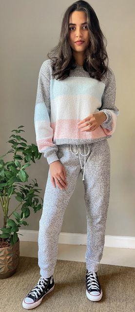 Calça em tricô SUZANA