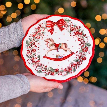Boleira Natalina Afetiva em Cerâmica