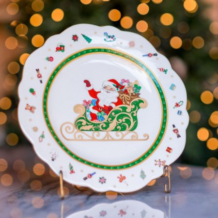 Prato Raso Winter em Cerâmica