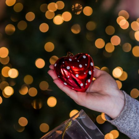 Pingente Coração Brilhante