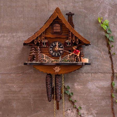 Relógio Cuco Mecânico Diário Pescador