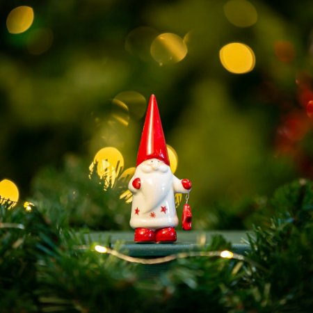 Papai Noel com Estrela Cerâmica