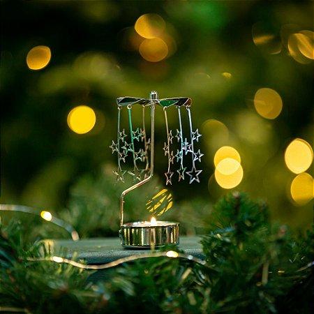 Girandola Estrela Prateada Christmas