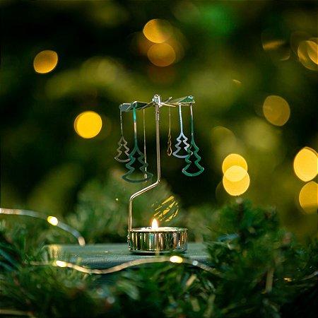 Girandola Pinheiro Prateado Christmas