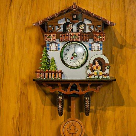 Relógio Cuco Choppeiro Pequeno Réplica Chalé