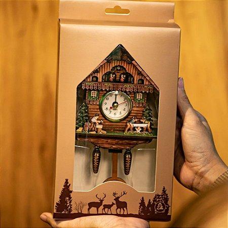 Relógio Cuco Serrador Pequeno Réplica Chalé