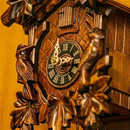 Relógio Cuco Mecânico Diário Pássaros