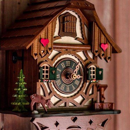 Relógio Cuco Chalé Romantic