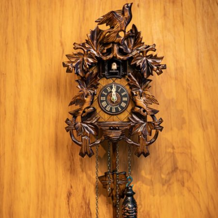 Relógio Cuco Tradicional Entalhes Eletrônico