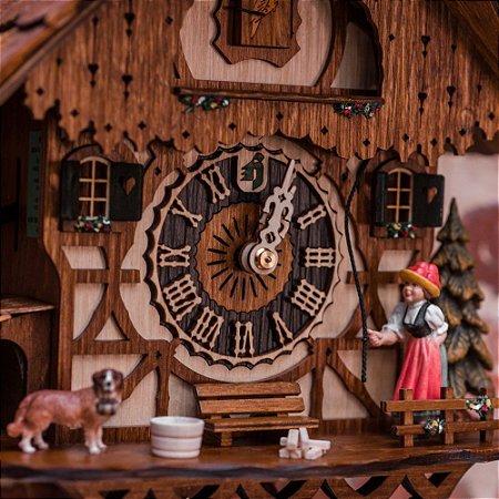 Relógio Cuco Camponesa Mecânico Semanal