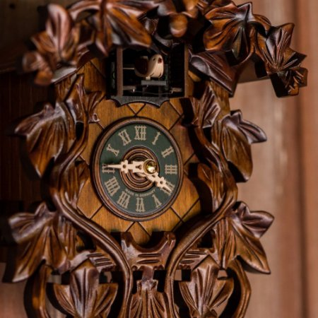 Relógio Cuco Tradicional Ramas Eletrônico Musical