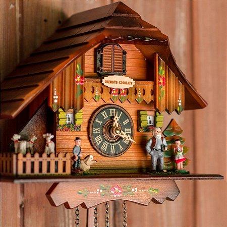 Relógio Cuco Chalé Cabrinhas da Heidi Eletrônico