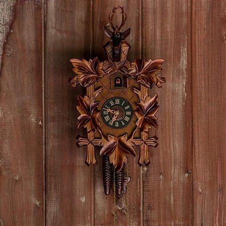 Relógio Cuco Cervo Mecânico Diário Tradicional