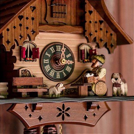 Relógio Cuco Chalé Tomador de Chopp Mecânico Diário