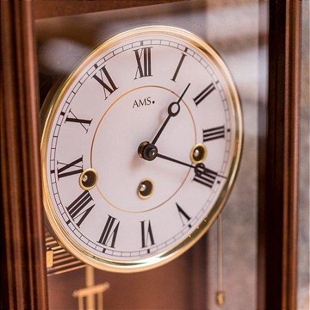 Relógio Carrilhão de Parede Mecanismo Aparente Alemão