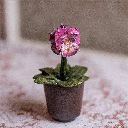 Flor Amor-Perfeito Homedecor Resina Garden