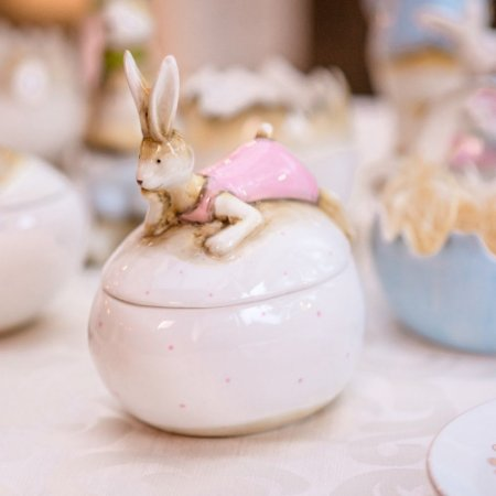 Coelha Dora Porta Doçuras Cerâmica Home