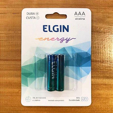 Pilha Alcalina Elgin AAA