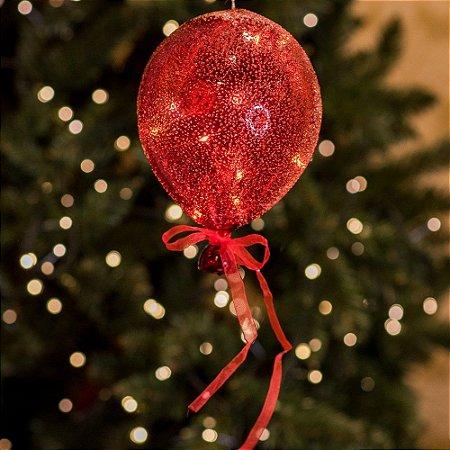 Balão Açucarado Vermelho Cristal