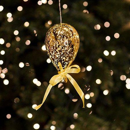 Balão Espelhado Amarelo Mini Cristal