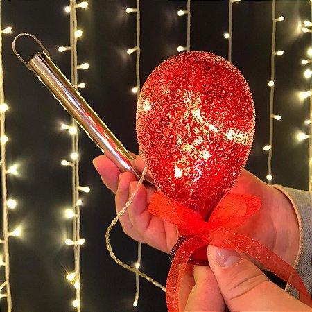 Balão Açucarado Vermelho Mini Cristal
