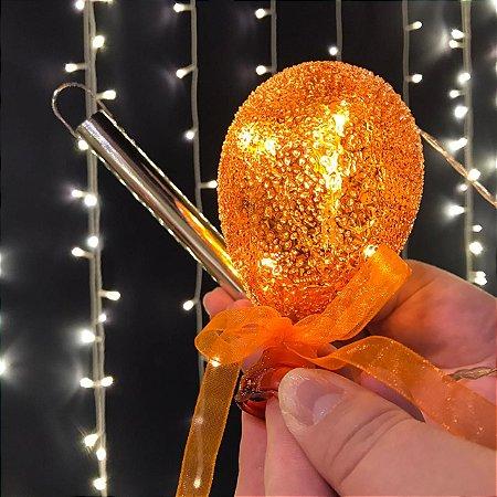 Balão Açucarado Laranja Mini Cristal
