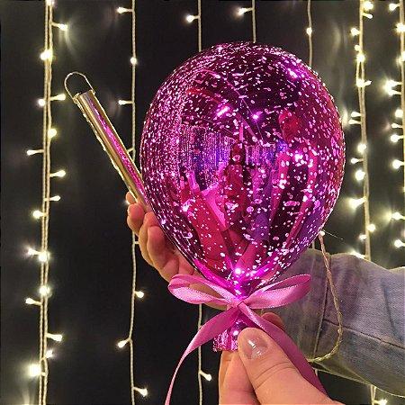 Balão Espelhado Pink Cristal