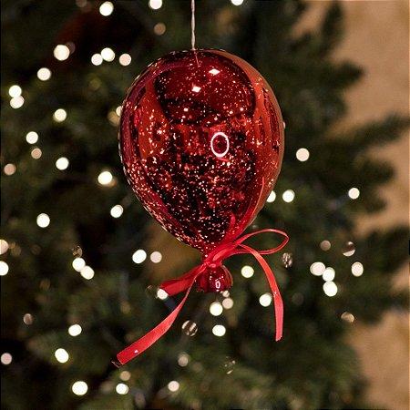 Balão Espelhado Vermelho Mini Cristal