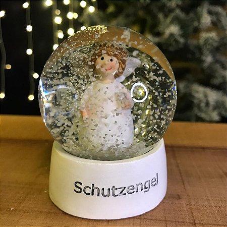 Globinho de Neve Anjo Vidro