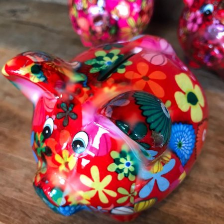 Cofrinho PIG Red Cerâmica