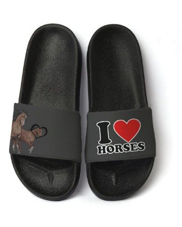 Chinelo Slide - I Love Horses - Masculino