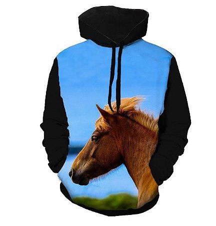 Blusa Moletom - Cavalo Tropical - Unissex