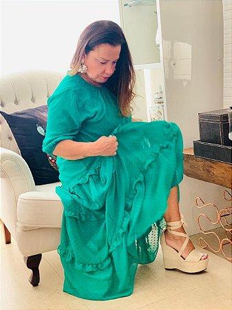 Vestido Aqua Poa
