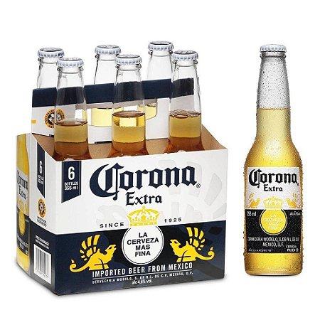 Cerveja Corona Lager Long Neck 330ml Caixa (6 unidades)