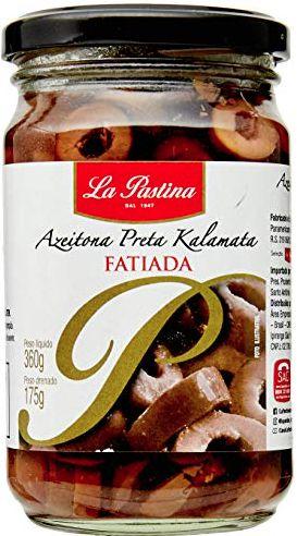 Azeitona Preta Chilena La Pastina Fatiada 175g