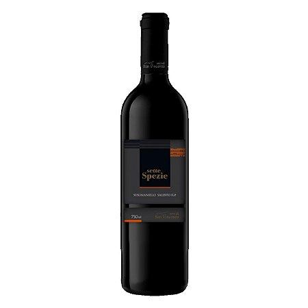Vinho Italiano Sette Spezie Susumaniello Salento IGP 750ml