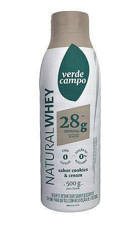 Iogurte Natural Whey 28 Verde Campo Cookies & Cream  500g