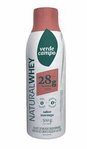 Iogurte Natural Whey 28 Verde Campo Morango 500g