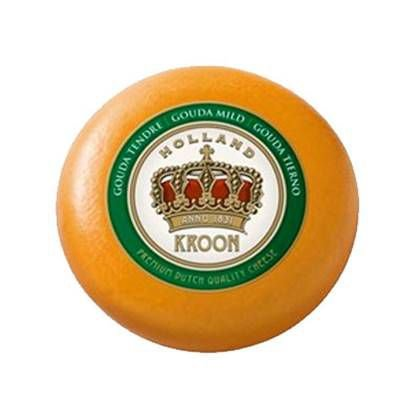 Queijo Holandês Gouda Kroon Suave Forma Fracionado 400g