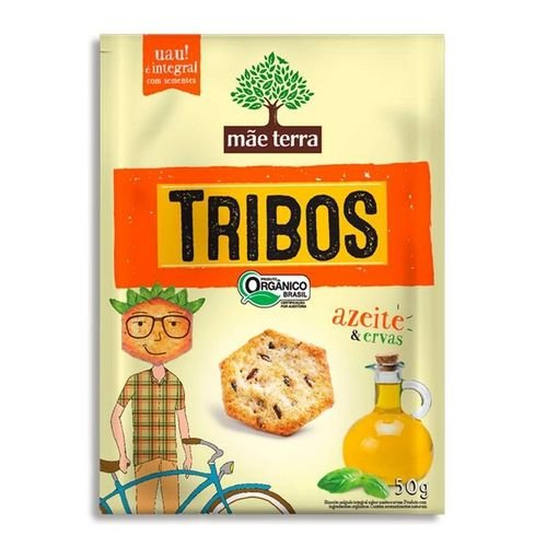 Biscoito Mãe Terra Tribos Orgânico Azeite/Ervas 50g