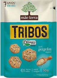 Biscoito Mãe Terra Tribos Orgânico Gergelim Multigrãos 50g