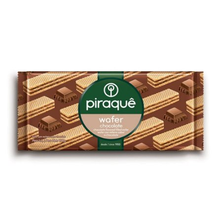 Biscoito Piraque Wafer Chocolate 160g