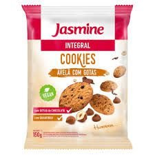 Cookies Jasmine Light Avelã/Gotas Chocolate 150g